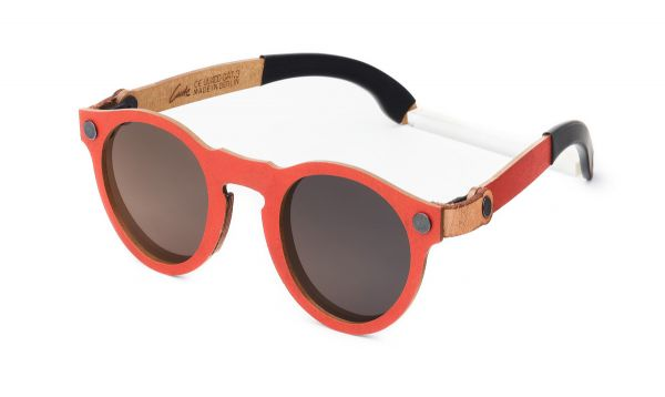 Cante Poet Vintage Red - Nachhaltige Holzsonnenbrille
